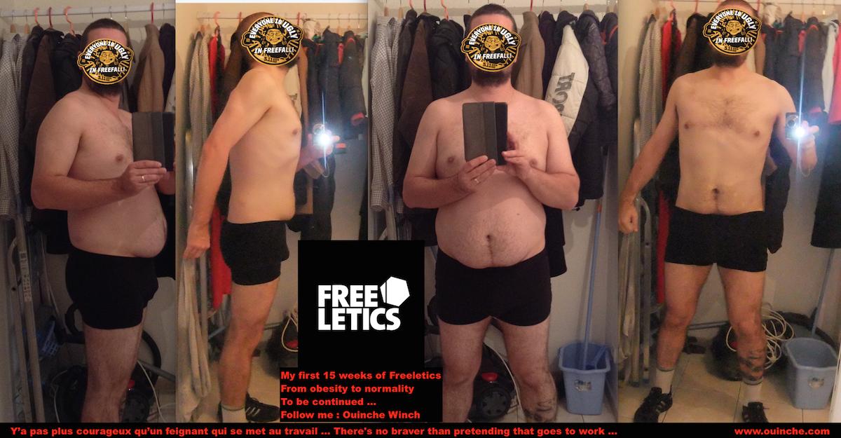 Mes 15 premières semaines de FREELETICS : D'obèse à normal
