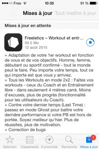 Freeletics : Pacthnote version 2.10