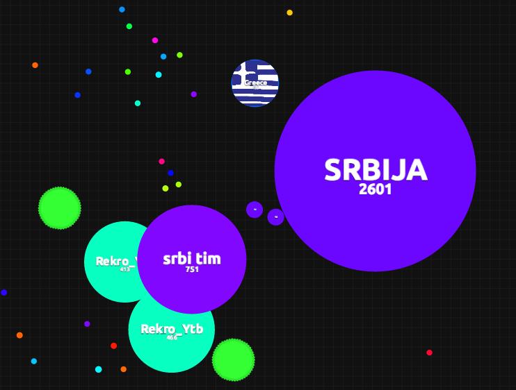 AGAR.IO : Jeu en équipe : SRBIJA envoies des masses à sbri tim pour lui permettre de manger Rekro_Ytb
