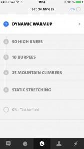 Mon test de fitness