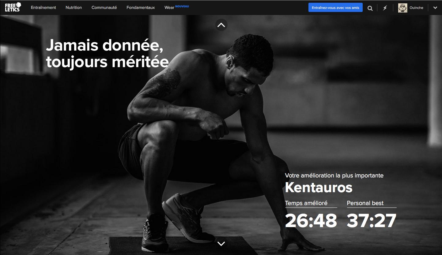 Freeletics Retro 2015 : KENTAUROS : Meilleure amélioration