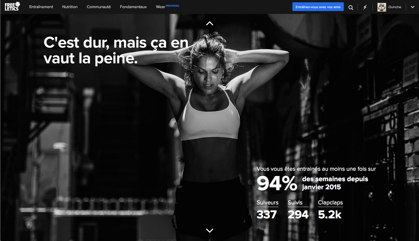 Freeletics Retro 2015 : 337 FOLLOWERS