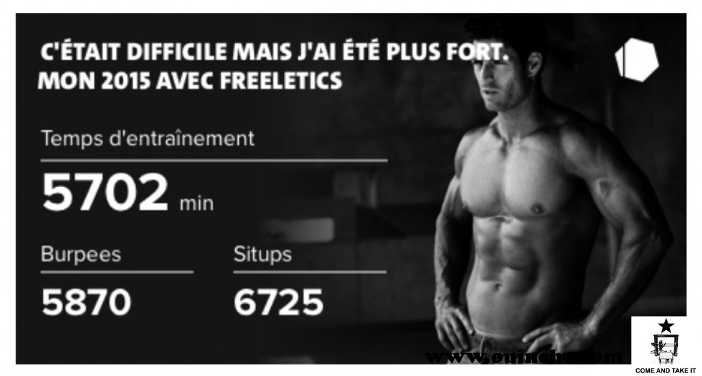 Freeletics Retro 2015 : 5870 Burpees