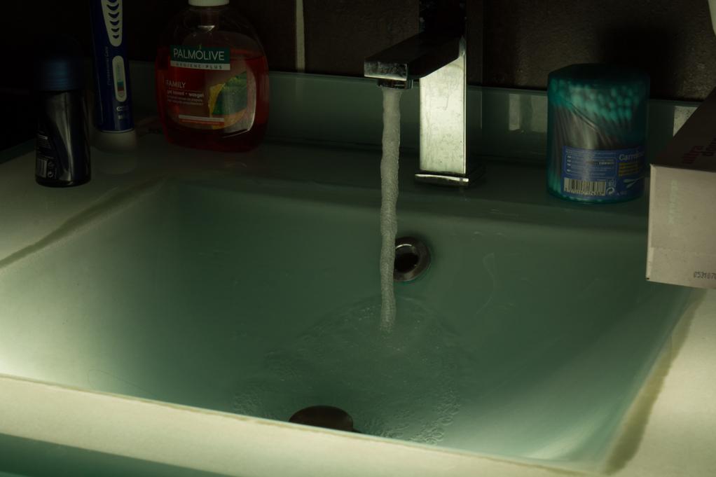 Essais D52S6 : Synchro haute vitesse flash 1/64 = eau figée