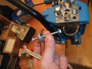 Photo 3 : fixation support distributeur de douilles