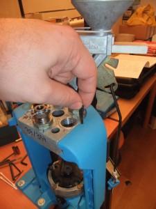 Photo 9: porte outils et pions de fixation